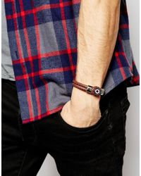 Simon Carter | Brown Leather Bracelet for Men | Lyst