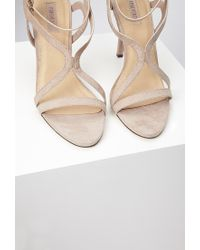 Forever 21 | Brown Curved Strap Stiletto Sandals | Lyst