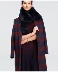Ann Taylor | Blue Faux Fur Scarf | Lyst