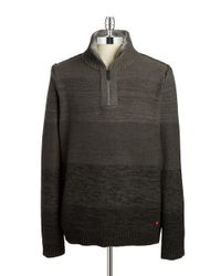Strellson | Gray Quarter-zip Sweater for Men | Lyst