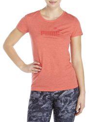 PUMA | Heathered Logo Tee | Lyst