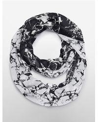 Calvin Klein - White Label Marble Print Loop Infinity Scarf - Lyst