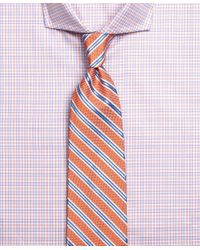 Brooks Brothers - Orange Oxford Stripe Tie for Men - Lyst