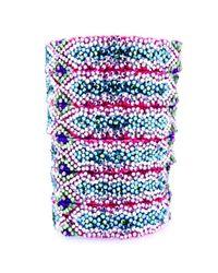 Doloris Petunia | Blue Swarovski Crystal Friendship Bracelet, Primrose | Lyst