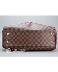Louis Vuitton - Brown Preowned Damier Ebene Trevi Gm Bag - Lyst