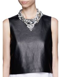 Assad Mounser - Metallic Teardrop Crystal Pendant Multi Chain Necklace - Lyst