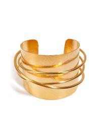 Herve Van Der Straeten | Metallic Hervé Van Der Straeten Hammered Gold-plated Epure Cuff | Lyst