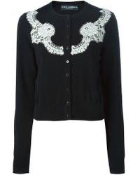 Dolce & Gabbana - Blue Lace Appliqué Cardigan - Lyst