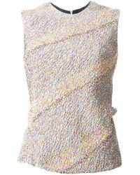 Jil Sander   Multicolor Bias Cut Tweed Style Top   Lyst