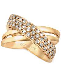 Le Vian - Metallic Diamond Crisscross Ring In 14k Gold (1/2 Ct. T.w.) - Lyst
