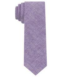 Calvin Klein | Purple Cotton Solid Skinny Tie for Men | Lyst