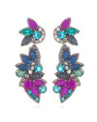 Suzanna Dai | Purple Tropicalia Drop Earrings | Lyst