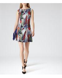 Reiss - Multicolor Dress - Ottoline Print Overlay - Lyst