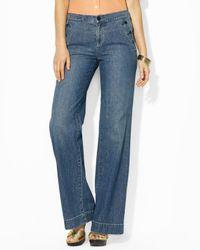 Ralph Lauren | Blue Wide Leg Jeans | Lyst