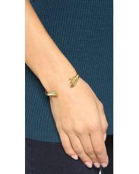 Lady Grey - Metallic Reflected Hand Cuff Bracelet - Gold - Lyst