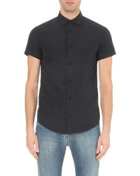 Armani Jeans | Blue Polka Dot Short-sleeved Cotton Shirt for Men | Lyst