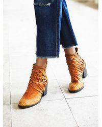 Free People | Brown Carrera Heel Boot | Lyst