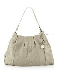 Furla | Natural New Blossom Snake Embossed Leather Hobo Bag Roccia | Lyst