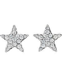 Finn | White Pave Star Stud Earrings | Lyst
