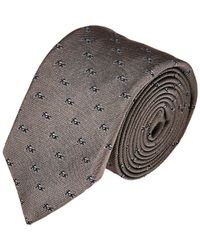 Rag & Bone | Gray Motorcycle-Pattern Neck Tie for Men | Lyst