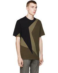 Neil Barrett | Black And Olive Macro Pop Art T_shirt for Men | Lyst