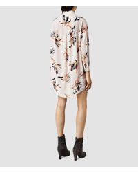 AllSaints - Gray Helle Yoro Dress - Lyst