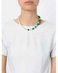 Eshvi | Green 'back To School' Necklace | Lyst