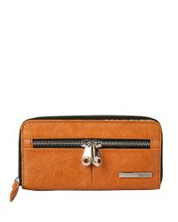 Kenneth Cole Reaction | Brown Wooster Street Pvc Zip Around Clutch | Lyst
