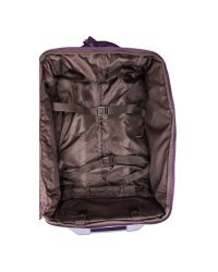 """Lipault - Purple Foldable 22"""" Wheeled Carry On Bag - Teal - Lyst"""