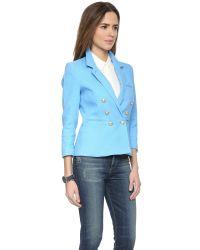 Smythe - Blue Rumpled College Blazer - Peri - Lyst