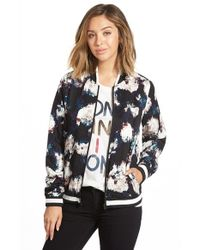 RVCA | Black The One Floral Jacket | Lyst