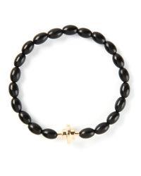Luis Morais | Black Gold Detail Bracelet for Men | Lyst