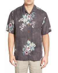 Tommy Bahama | Red 'moonlit Garden' Island Modern Fit Floral Print Silk Camp Shirt for Men | Lyst