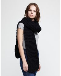 Wool And The Gang | Black Jolly Pocket Scarf | Lyst