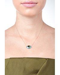 Lito | Metallic 14-Kt Gold Enamel Eye Necklace | Lyst