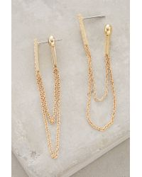 Anthropologie | Metallic Chainlink Earrings | Lyst