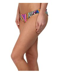 Mara Hoffman - Multicolor Reversible Ruched Braziian Bottom - Lyst
