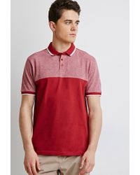 Forever 21 | Blue Colorblocked Piqué Polo for Men | Lyst