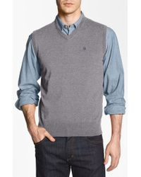 Victorinox | Gray 'Suisse' Tailored Fit Sweater Vest for Men | Lyst
