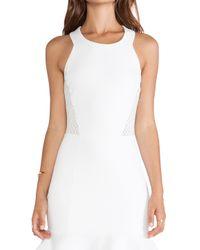 LaPina by David Helwani - White Lapina Nathalie Ponte De Roma Dress - Lyst
