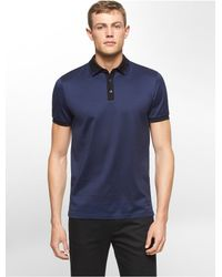 Calvin Klein | Blue White Label Premium Slim Fit Striped Polo Shirt for Men | Lyst