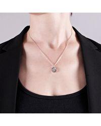Edge Only - Metallic Button Pendant Silver - Lyst