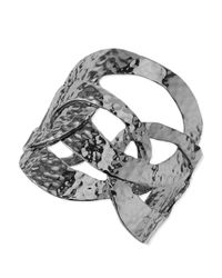 Sequin - Gray Hammered-ring Cuff Bracelet - Lyst