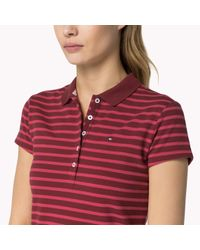 Tommy Hilfiger - Purple Stretch Slim Fit Polo - Lyst