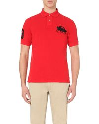 Pink Pony - Dual Logo-embroidered Cotton-piqué Polo Shirt for Men - Lyst