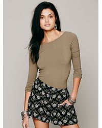 Free People - Natural Solid Low Back Top - Lyst