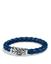 David Yurman | Metallic Chevron Bracelet In Blue for Men | Lyst