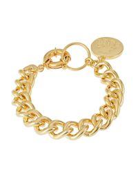 Lauren by Ralph Lauren - Metallic Chainlink Charm Bracelet - Lyst