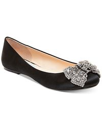Betsey Johnson - Black Ever Bow Ballet Flats - Lyst