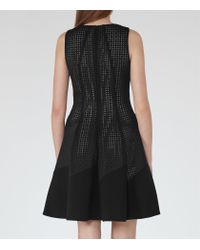 Reiss | Black Pinot Cut-out Fit And Flare Dress | Lyst